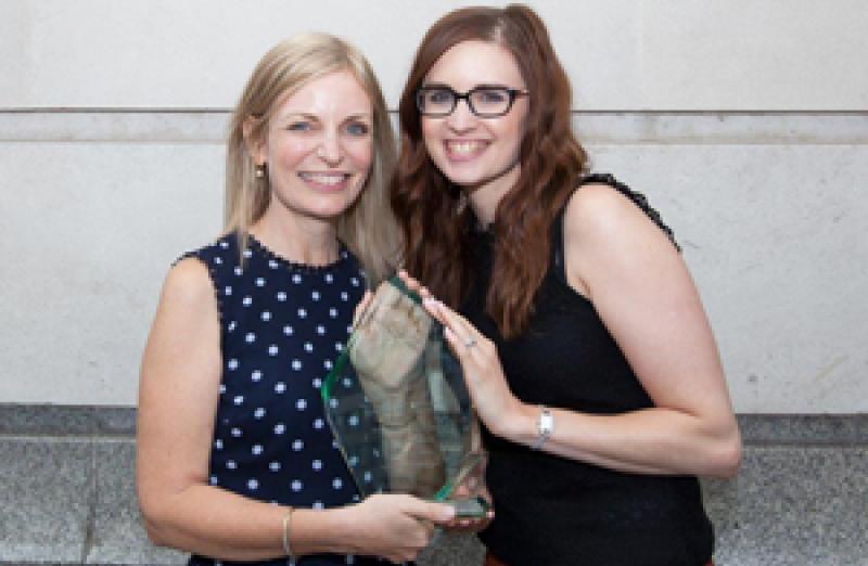 Ann-Marie Harkin accepting her award for Women in Leadership